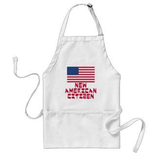 Nieuwe Amerikaanse Burger met Amerikaanse Vlag Standaard Schort