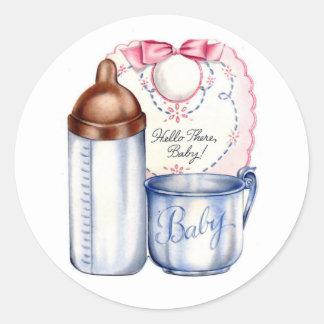 Nieuwe de giftstickers van het Baby voor manden of Ronde Stickers