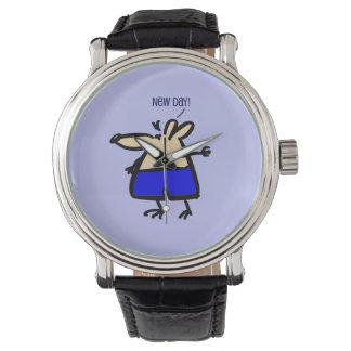 Nieuwe de pretMuis van de Dag op blauw horloge