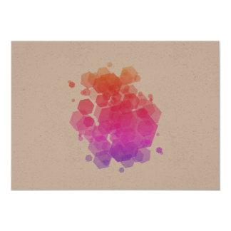 Nieuwe geometrische Kunst in winkel: paarse 12,7x17,8 Uitnodiging Kaart