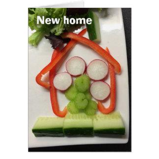 """Nieuwe het huiskaart van het """"huis van salade"""" wenskaart"""