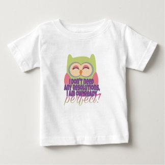 Nieuwe jarenresolutie baby t shirts