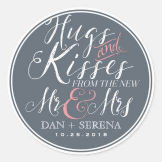 Nieuwe M. en Mevr. Wedding Favor Sticker van de