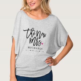 Nieuwe Mevr. (Name) Est. Uw Jaar van het Huwelijk T Shirt