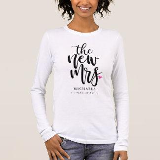 Nieuwe Mevr. (Name) Met Uw Jaar van het Huwelijk T Shirts