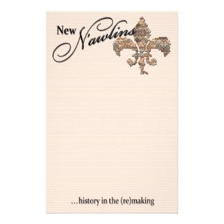 """""""nieuwe n'awlins"""" kantoorbehoeften briefpapier"""