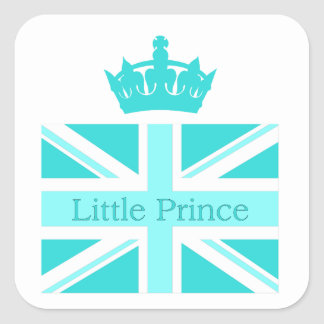 Nieuwe Prins - een koninklijk baby! Vierkant Stickers