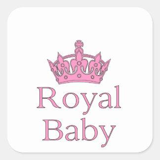 Nieuwe Prinses - een Koninklijk Baby! Vierkante Sticker