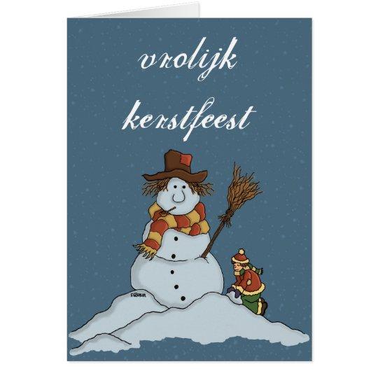 nieuwe sneeuwman kerstkaart sneeuw nl kaart