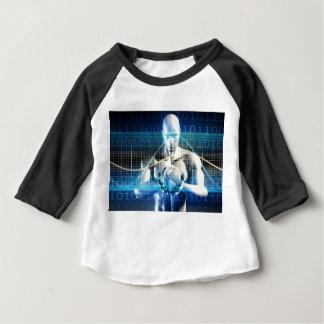 Nieuwe Toekomstige Technologie binnen Palm van Uw Baby T Shirts
