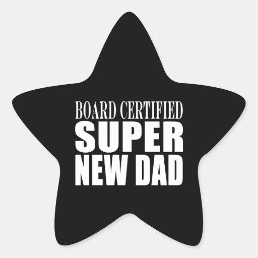 Nieuwe Vaders & Baby showers: Super Nieuwe Papa Stervormige Sticker