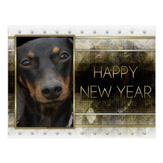 Nieuwjaar - Gouden Elegantie - Tekkel Winston Briefkaart