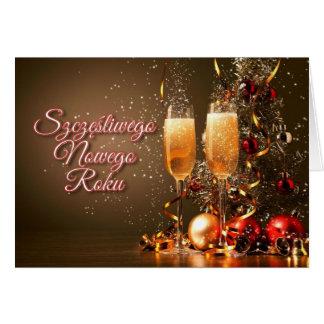 Nieuwjaar in Pools - Szczęśliwego Nowego Roku Kaart