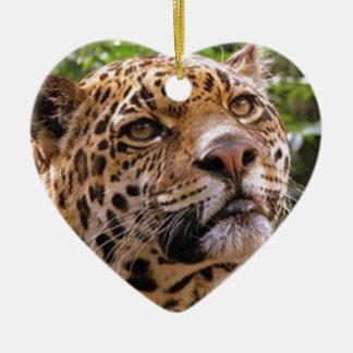 Nieuwsgierig Jaguar Keramisch Hart Ornament