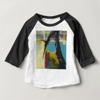 Nieuwsgierigheid de abstracte draak baby t shirts
