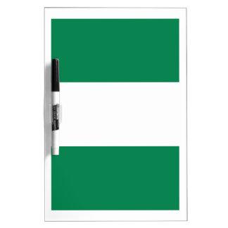 Nigeriaanse vlag whiteboards