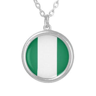 Nigeriaanse vlag zilver vergulden ketting
