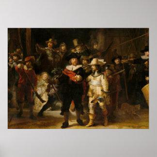 Nightwatch door Rembrandt van Rijn Poster