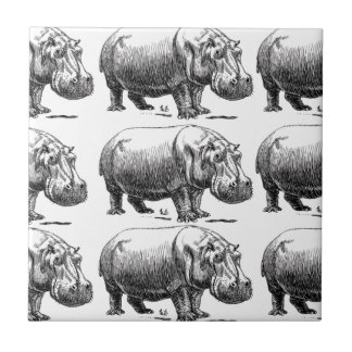 nijlpaard goud tegeltje