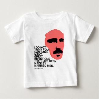 nikola tesla baby t shirts