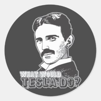 Nikola Tesla Ronde Sticker