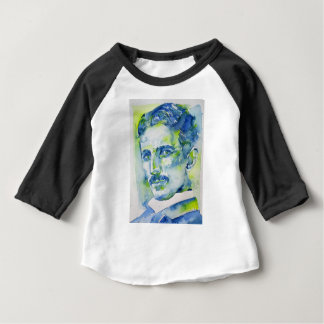 nikola tesla - waterverf portrait.1 baby t shirts