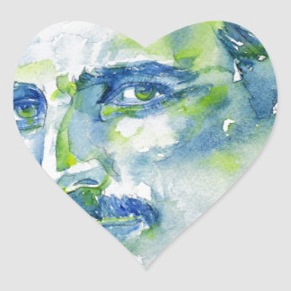 nikola tesla - waterverf portrait.1 hart sticker