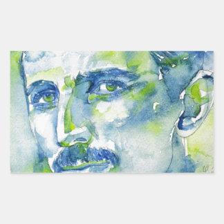 nikola tesla - waterverf portrait.1 rechthoekige sticker