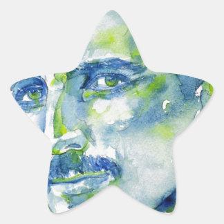 nikola tesla - waterverf portrait.1 ster sticker