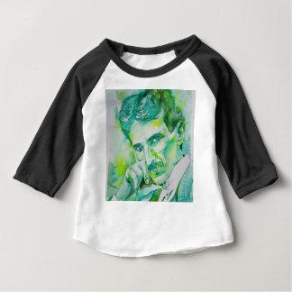 nikola tesla - waterverf portrait.2 baby t shirts