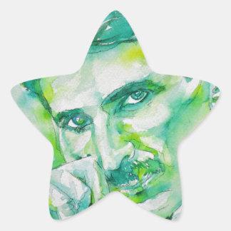 nikola tesla - waterverf portrait.2 ster sticker