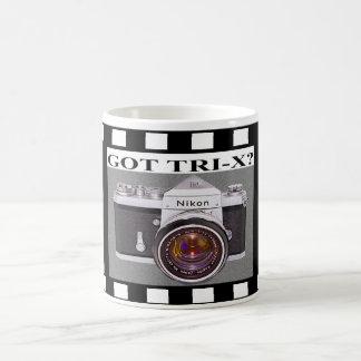 Nikon F met 50mm f1.4 - Pictogram van Fotografie! Koffiemok