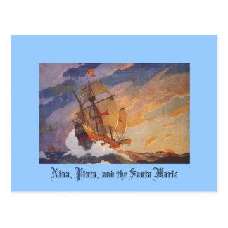 Nina, Pinta, en Santa Maria Briefkaart