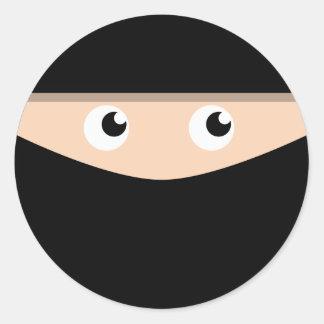 Ninja! Ronde Sticker