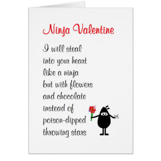 Ninja Valentijn - het gedicht van grappig Wenskaart