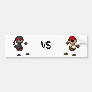 Ninja versus Piraat Bumpersticker