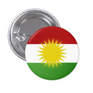(Nîşan) de vlagkenteken van Koerdistan Ronde Button 3,2 Cm