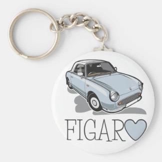 Nissan Figaro Bleke Aqua Basic Ronde Button Sleutelhanger