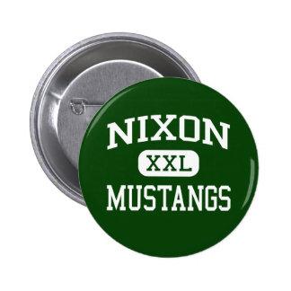 Nixon - Mustangen - Middelbare school - Laredo Tex Ronde Button 5,7 Cm