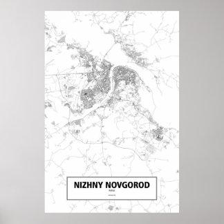 Nizhny Novgorod, zwart Rusland (op wit) Poster