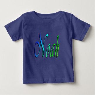 Noah, Naam, Logo, de Blauwe T-shirt van de Baby