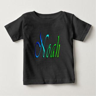Noah, Naam, Logo, de Zwarte T-shirt van de Baby