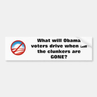 nobama, wat kiezers Obama wanneer al t… Bumpersticker