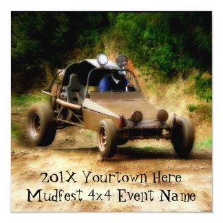 Nodig aan 4x4 rennen Mudfest uit het vuile Kaart