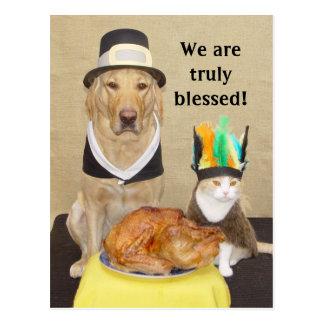 Nodig een vriend voor Thanksgiving uit! Briefkaart
