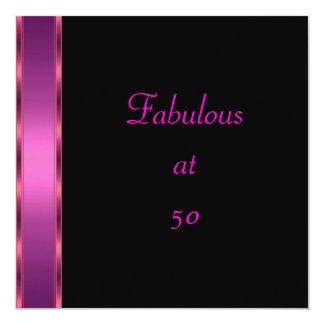 Nodig vijftigste van de Partij van de Verjaardag 13,3x13,3 Vierkante Uitnodiging Kaart