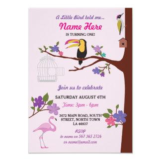 Nodigen de Roze Tweelingen van de Verjaardag van 12,7x17,8 Uitnodiging Kaart