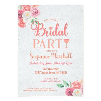 Nodigt de Bruids Partij van cocktails Roze Kaart