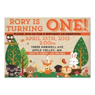 Nodigt de Eerste Verjaardag van Rory uit 8,9x12,7 Uitnodiging Kaart
