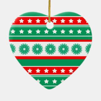 noel keramisch hart ornament